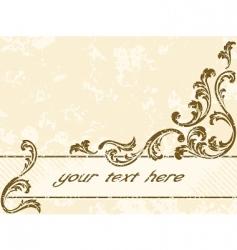grungy vintage sepia banner horizontal vector image vector image