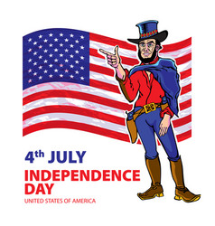 National independence day of the cowboy vector