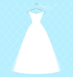 white bridal dress on hanger fashion vector image