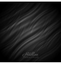 Abstract black wavy pattern design vector image vector image