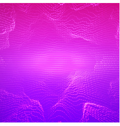 Abstract violet point mesh vector
