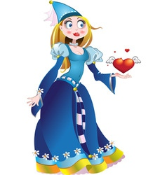 charming princess vector image vector image