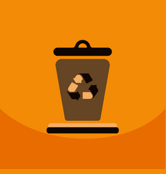 Garbage waste recycling line art thin icons set vector