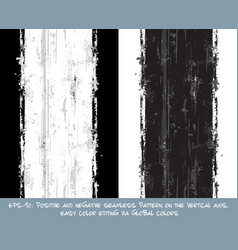 seamless pattern - vertical brush stroke positive vector image vector image