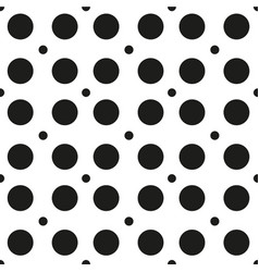 abstract black circle pattern white background vec vector image