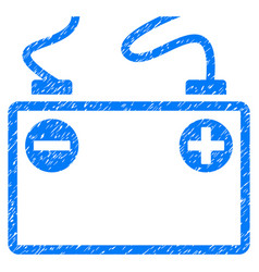 Accumulator battery grunge icon vector