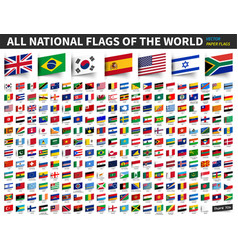 All national flags of the world inserted paper vector