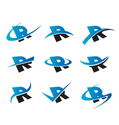 Alphabet R Logo Icons vector