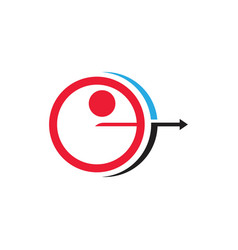 archery icon template vector image