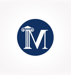 Attorney law letter m logo with creative modern vector