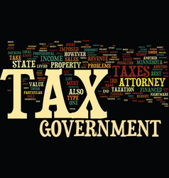attorney minnesota tax text background word cloud vector image