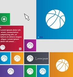 Basketball icon sign buttons Modern interface vector image