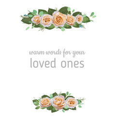 beautiful watercolor frame template banner vector image