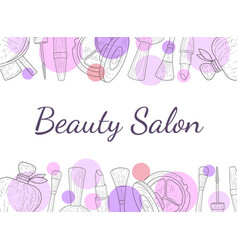 Beauty salon banner template cosmetics and beauty vector