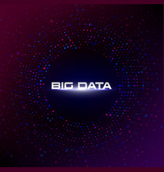 big data circular visualization with copy space vector image