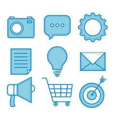 blue objects design vector image