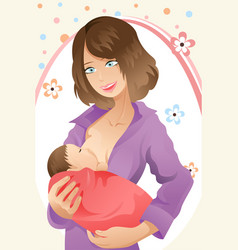 breast feeding woman vector image