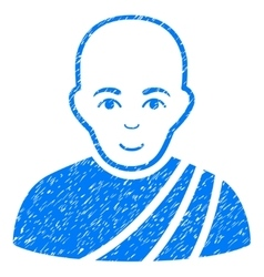 Buddhist Monk Grainy Texture Icon vector