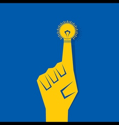 Business concept - finger with bulb vector image
