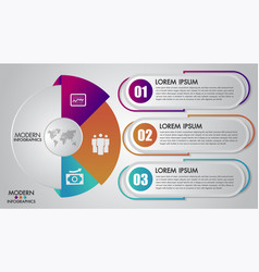 business infographics template 3 options vector image