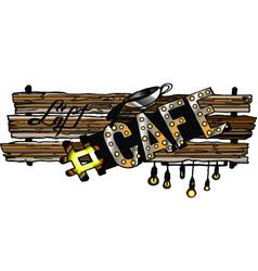 Cafe-loft vector