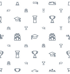 Ceremony icons pattern seamless white background vector