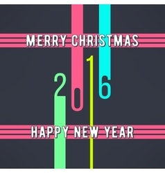 christmas and new year background made in vector image