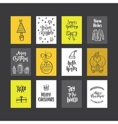 Christmas Card Templates vector image