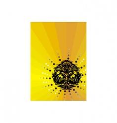 circular pattern on a yellow vector image vector image