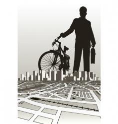 City biker vector
