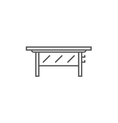 Class desk isolated icon in linear style vector