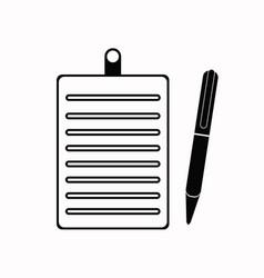 clipboard pencil icon black vector image