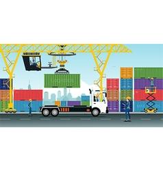 Container Cranes vector