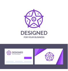 creative business card and logo template pentacle vector image