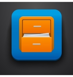 Document symbol icon on blue vector image