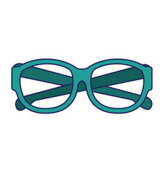 Executive glasses accesorie isolated cartoon blue vector