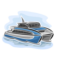 Ferry catamaran vector