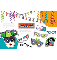 flat carnival bright composition vector image