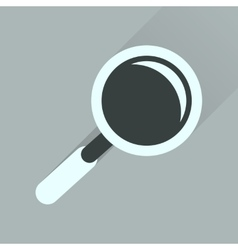 Flat icon with long shadow magnifying glass vector