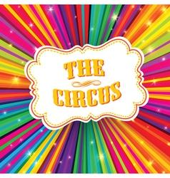 Funny circus poster design vector