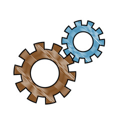 Gears teamwork cooperation concept abstract design vector