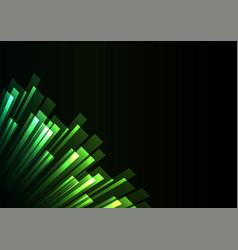 Green overlap stripe rush in dark background vector