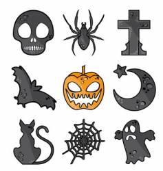 Halloween symbols vector