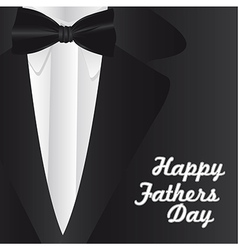 Happy Fathers Day holiday card with formal suit an vector