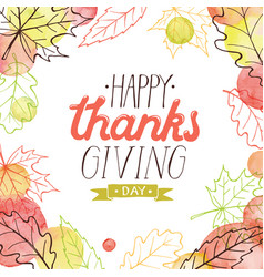happy thanksgiving poster vector image