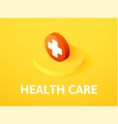 health care isometric icon isolated on color vector image