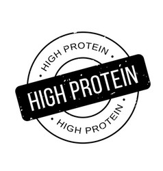 high protein rubber stamp vector image