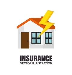 icon insurance security design vector image