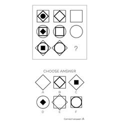 IQ test Choose correct answer vector image