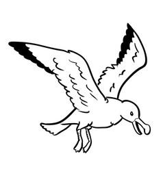 Isolated gull cartoon- hand drawn vector